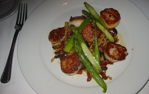 River Grille scallops