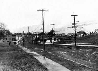Kenmore Business district 1914