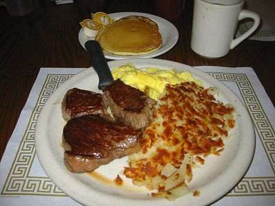 Farmer Boy steak n eggs