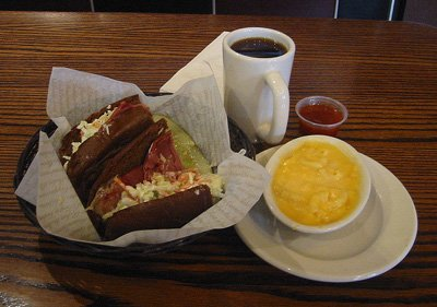 Grinders soup and sandwich
