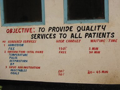 Local hospital price of care.