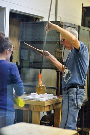 Glass works demonstration