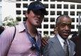 Schwarber meets Al Sharpton in Charlotte.JPG