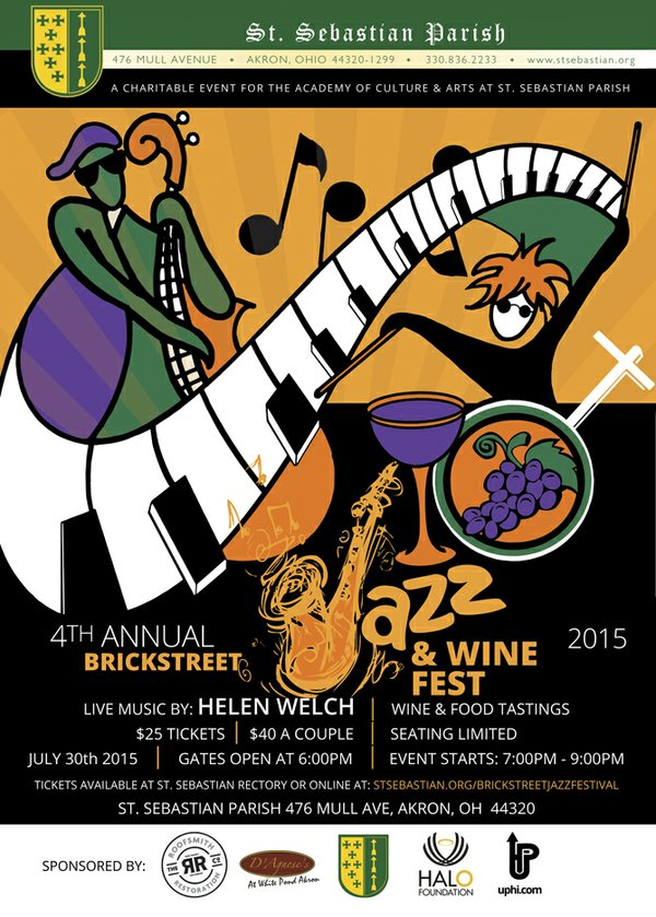 jazz and wine flier