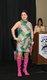 Anne Lazzerini wearing disco-era attire of the 1970s.jpg