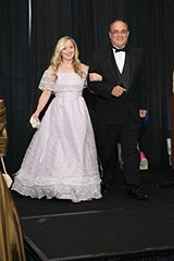 Mindy Marsden of Bober Markey Fedorich with Ralph Sinistro in a 1990s hooped dress.jpg