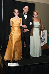 Sarah Webster (left) and JJ Mesko-Kimmich (right) with Allen Nichols in 1960s gala attire.jpg