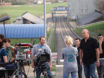 Bernsen w.crew. Derby hill