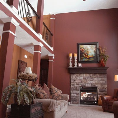 elegant oasis living room opening