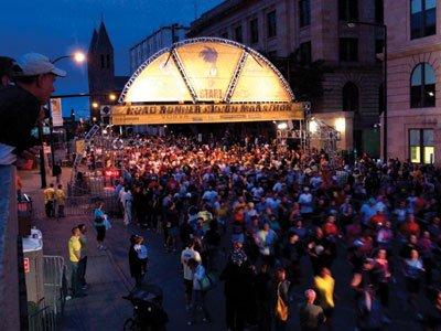 start line Akron Marathon